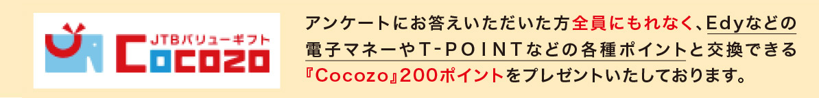 Cocozo Point プレゼント