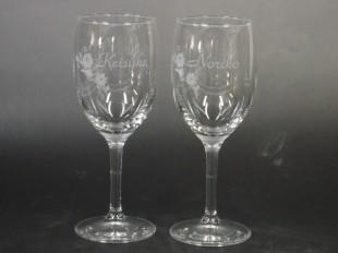 結婚祝い名入れペアワイングラス
