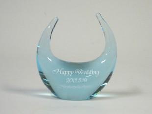 ブルーガラスのリングピロー3