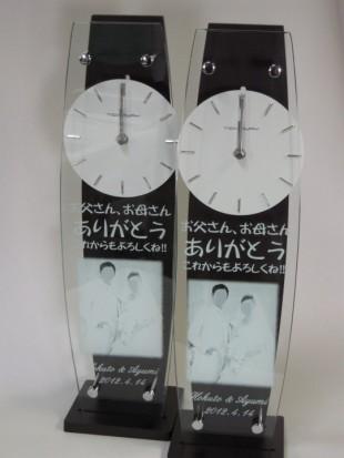 ブライダル写真入りの振り子時計26