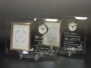 時計付きのブライダルフォトフレーム22