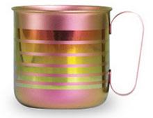 チタンデザインマグカップ ボーダーL(ピンク)