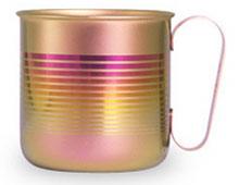 チタンデザインマグカップ ボーダーS(ピンク)