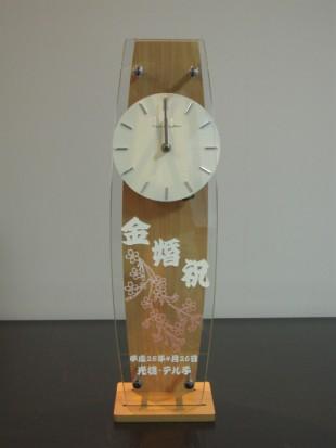 金婚祝いの振り子時計桜イラスト