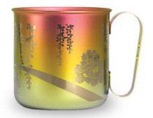マグカップ 牡丹(ピンクゴールド)