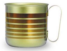 チタンデザインマグカップ ボーダーL(ブラウン)