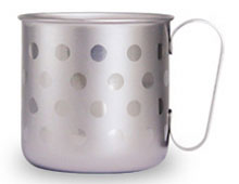 デザインマグカップ 水玉L(チタンシルバー)