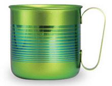 チタンデザインマグカップ ボーダーS(グリーン)