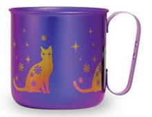 マグカップ ネコ(パープル)
