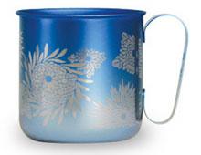 マグカップ 菊(グラデーションブルー)