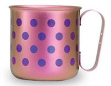 マグカップ 水玉L(ライトピンク)