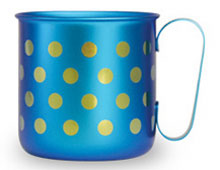 マグカップ 水玉L(ライトブルー)