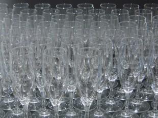 披露宴の席札フルートグラス