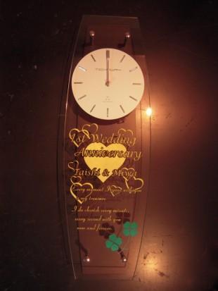 結婚1周年の電波時計
