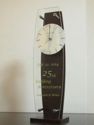 結婚25周年の振り子時計