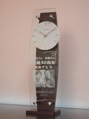結婚記念の写真入り時計