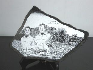 加工写真入り溶岩プレート
