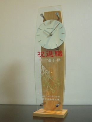 退職祝の振り子時計